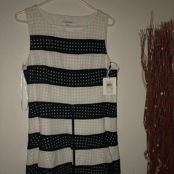 Calvin Klein Dresses & Skirts - Calvin Klein's black and white sleeveless dress